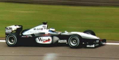 McLaren Mercedes im Rennen