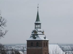 Michaeliskirchevom Kalkberg aus gesehen