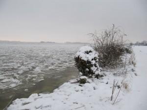 Vereiste Elbe Blankenese