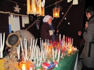 Historischer Weihnachtsmarkt Lüneburg, Kerzenstand an der Michaeliskirche