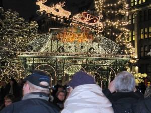 Weihnachtsmarkt am Rathaus in Hamburg